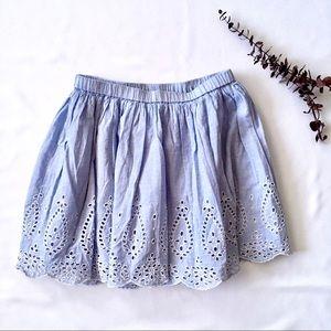 Sz 12 GAP Kids Eyelet Skirt